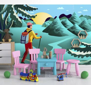 Um grande fotomural infantil que mostra a paisagem animada de um lugar realmente mágico. Disponível em vários tamanhos