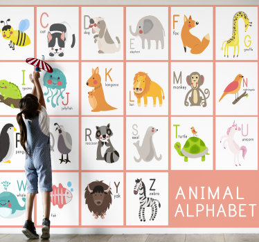 This children's wall murals will make your rooms a lovely decorated place and help your children learn alphabet. There is an amazing animal motif.