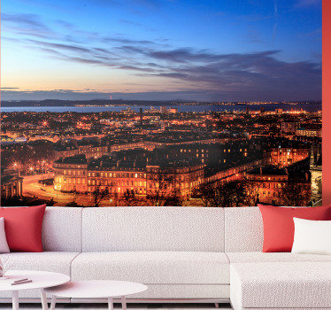 Decorate your living room with this city wall mural with a magnificent photograph of Edinburgh at dusk. +10,000 satisfied customers.