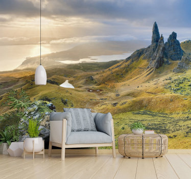 Being surrounded by nature has so many positive advantages... order this stunning scenery photo mural and relax on your sofa looking at this view.