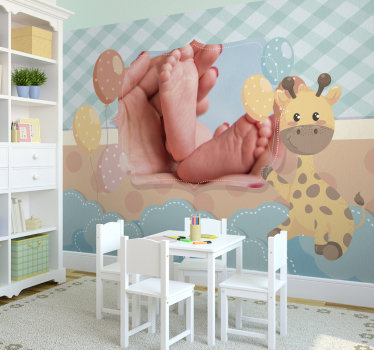 Nursery wallpaper to transform the picture of your beautiful newborn baby into a beautiful colorful photo wallpaper. You will love it!