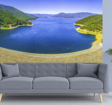 You have just found landscape wall mural perfect for you, with the aerial panorama of Dartmouth dam. High quality image and vivid colours!
