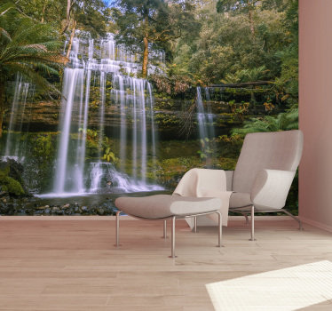 Order this waterfall photo wallpaper and forget about world problems and about boring white walls. Easy step by step instructions are included.