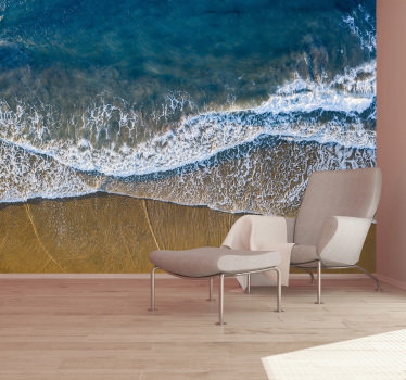 Bring beach to your home with this highly realistic scenery wall mural . Feel the warm of sand under your feet just by looking at this piece of art!