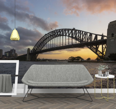 Bring some spice to the room of your choice with this beautiful lounge wall mural of the Sydney Bridge design.  Buy it now and enjoy it!