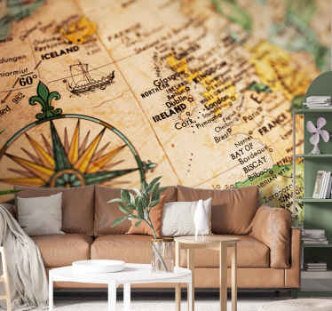 Do you love Ireland? Then this country wall mural with a detailed map of the Republic of Ireland along with the country flag is perfect for you.