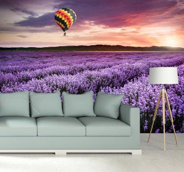 Een mooi paars landschap natuur fotobehang voor uw huis. Dit ontwerp is een uniek idee voor uw woonkamer. Koop het nu en u zult er geen spijt van krijgen!