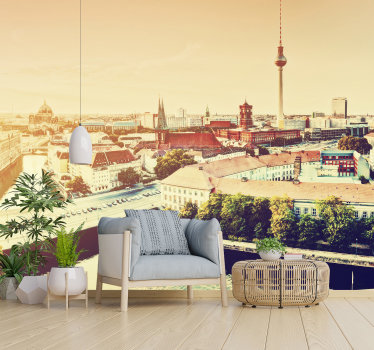 The capital of Germany is beautiful and can now be a part of your decoration at home! With our wall mural of Berlin you can create a nice atmosphere!