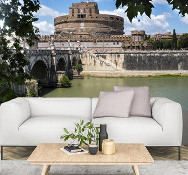 Prendi una parte della bellissima roma a casa tua! Questo murale con il castello sant angelo in italia è perfetto per le tue pareti!