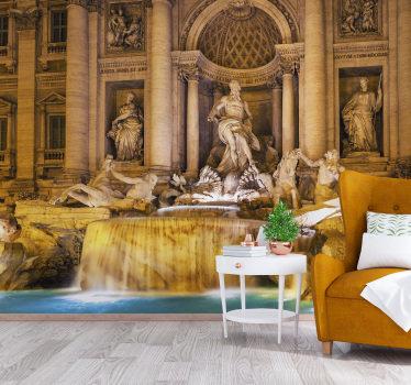 Porta a casa tua una statua della fontana di trevi della città italiana di roma per realizzare le tue mura. Puoi avere questo prodotto nella dimensione desiderata