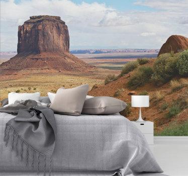 ¿Te gusta pasear por las zonas montañosas y la naturaleza seca, y puedes pasar horas allí sin tener suficiente? Disfruta de este hermoso fotomural pared del desierto.