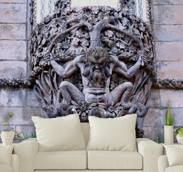 Incrível mural de parede decorativo temático da escultura portuguesa Adamastor, uma das figuras míticas da literatura portuguesa, perfeito para a sua sala de estar!