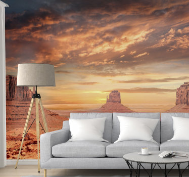 With this photo wall mural of the Mountains on the Desert in the house, you can transform any space and bring a desert atmosphere in the house.