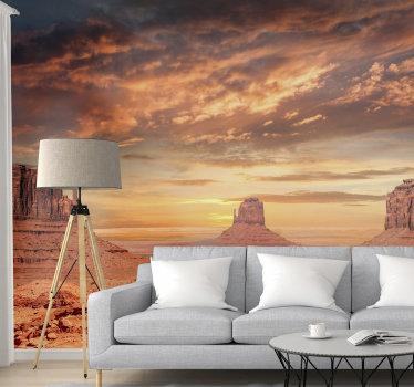 S tem foto stenskim stenskim poslikavam gora na puščavi v hiši lahko preoblikujete kateri koli prostor in v hišo vnesete puščavsko vzdušje.