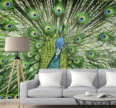 This colourfull animal wall mural can be applied to any space where you will be happy to admire it. Make your home better with this beautiful design.