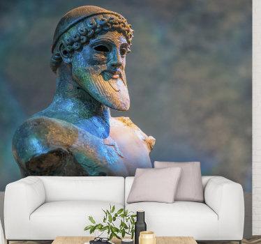 эта художественная фреска из посейдона создаст очень красивый эффект на желаемой стене благодаря детальной отделке, изображенной на ней.