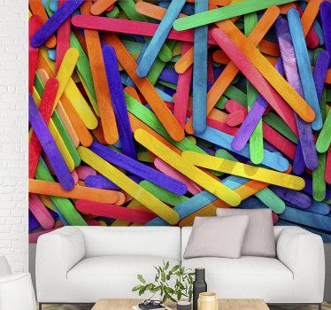 En fin färgglad väggmålning för barn att placera i ditt barns rum. Gör ditt hem bättre med denna vackra design.