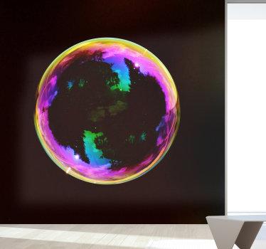 Se stai cercando un modo originale per personalizzare le tue pareti, questo murale moderno con l'immagine di una bolla di sapone colorata è perfetto per te!