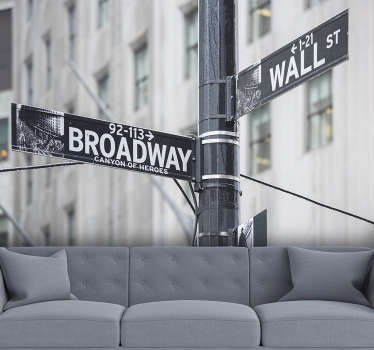 With this black and white New York Broadway Sign photo wallpaper you can renovate the room you want and give it a new look.
