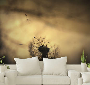 Lion teeth wall mural will make your interiors full of nature and positive vibes. Order this high quality image now and do not regret your choice!