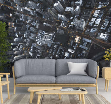 Our modern city wallpaper is made of high quality materials, is highly resistant and long lasting, which makes its application enormously easier.
