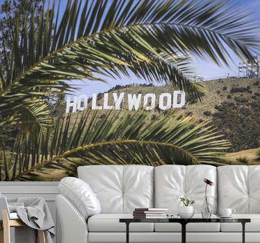 Magnífico mural de parede de letreiro de Hollywood de altíssima qualidade com acabamento mate. Fácil de aplicar.