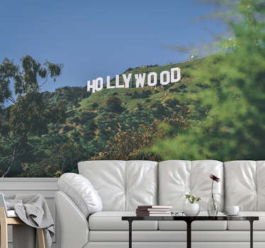 This Hollywood sign wallpaper photo is of very high quality with a matte finish. It does not reflect the light. Our photo wallpaper is easy to apply.