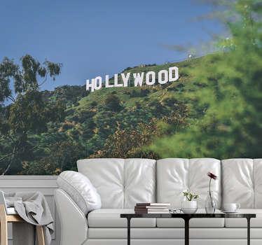 Photo murale panneau d'Hollywood de très haute qualité avec une finition mate. Il ne réfléchit pas la lumière. Notre papier peint photo est facile à appliquer.