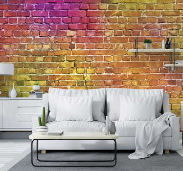 This colourful brick art wall mural is such an exciting way to redecorate your walls! Let us know the sizes you need and buy it today.