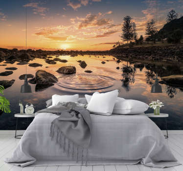 Observe the sound of water on this beautiful lake wall mural made with a high quality image. Register to get a 10% discount!