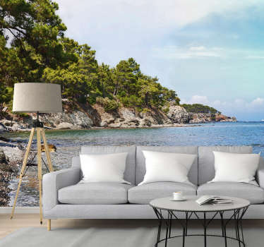 ¡Disfrute de una hermosa vista con este fotomural con vistas a la playa de Antalya donde a todos les gustaría pasar sus vacaciones!