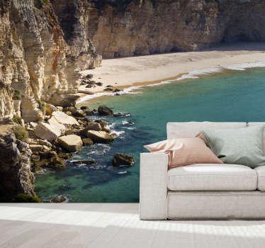 Não há nada melhor que este fotomural decorativo de mar de uma praia do Barlavento Algarvio na sua sala ou no seu quarto.