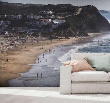 Fantástico mural de parede do mar com uma imagem linda da praia de Aljezur. Aproveite esta bela vista da sua casa na parede desejada.
