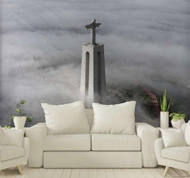 Mural de parede decorativo de lugares da estátua monumental do Cristo Rei em Portugal. Registe-se para obter 10% de desconto no seu primeiro pedido!