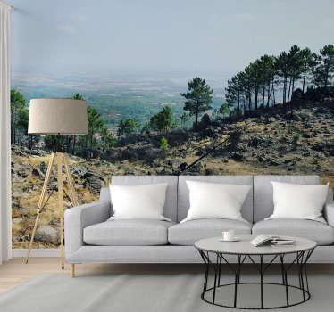 Aproveite este fotomural decorativo de natureza mostrando as paisagens dos Gerês em Portugal em plena luz do dia.