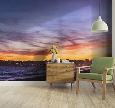 Aproveite este fotomural de parede da Praia de Lagos ao anoitecer. Esse belo produto ficará ótimo no seu quarto!