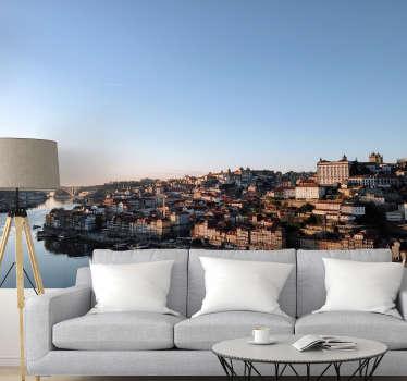Aqui pode apreciar um exclusivo fotomural de parede de cidades de Vila Nova de Gaia no distrito do Porto. Medidas personalizáveis.