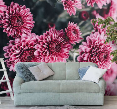 Add this photo wallpaper with pink flowers to the room and create a floral finish on your walls. Especially for our flower lovers!