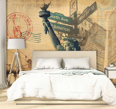 Relax and take in all the sights of New York without leaving the comfort of your own home with this New York wall mural.