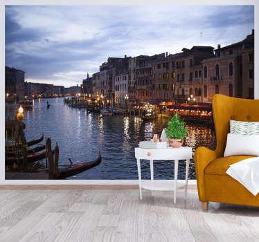 Italská krajina může být ve vašem domě každý den s touto krásnou městskou tapetou s fotografiemi, která předvádí krásu benátky. Doprava zdarma!