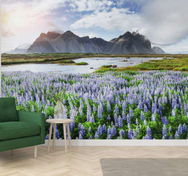 Enjoy this spectacular view of mountain and tha lake on this landcape wall mural full of nature. High quality image and free delivery!