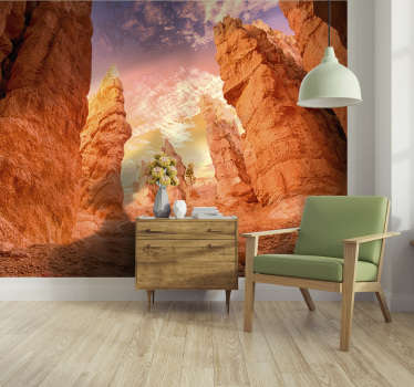 Admirez le monde chaque jour en regardant votre nouvelle stickers murale paysage qui présente la beauté du canyon rose. Livraison gratuite!