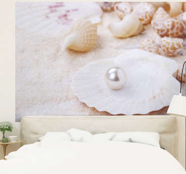 Oder this sea photo mural with a shell and a pearl to get a delicate and subtle decoration in your house. Free delivery!