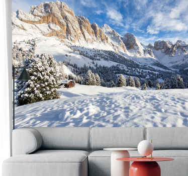 Order those wall murals for bedrooms with a snowy mountain on the clear sky. No pixels and free delivery. Do not wait anymore!