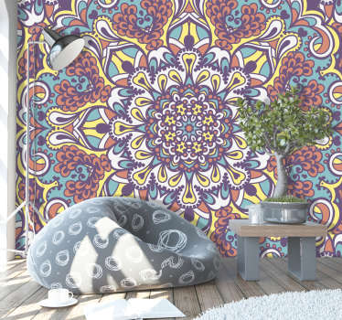 Now you can stare into the beauty of this incredible mandala wall mural design for hours upon end. Worldwide delivery available!