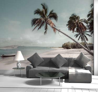 Este fotomural do mar com a imagem de uma praia em Moçambique é a decoração perfeita para levar as suas férias de praia para a sua sala ou quarto.