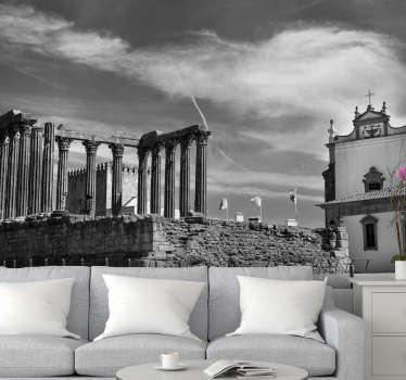 E este fotomural de lugares do Templo de Évora em Portugal impressionará todos os seus convidados.