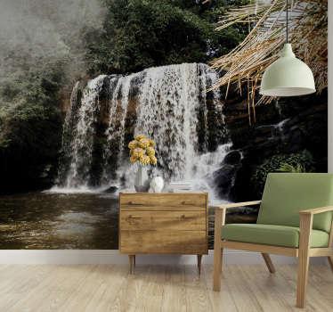 Este fotomural de cascatas do Parque Nacional de Pedra Azul ficará lindo na decoração das paredes da sua casa.