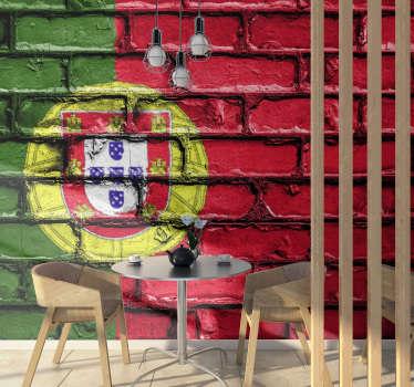 Ama Portugal e quer que todos que o visitam o saibam? Então este fotomural de países da bandeira de Portugal é perfeito para si.