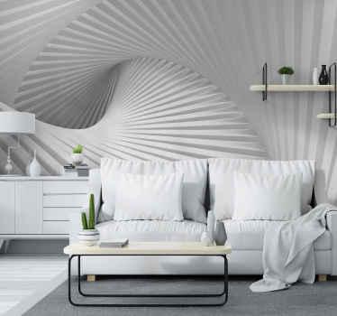 φανταστική τοιχογραφία με οπτικά εφέ που θα κάνει τα δωμάτιά σας να φαίνονται μεγαλύτερα και σίγουρα πιο ενδιαφέροντα. ένα κομψό σχέδιο για ασυνήθιστα μέρη!